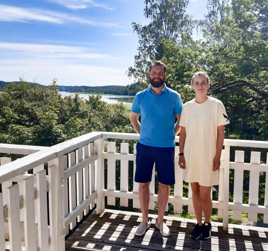 Lyhdyn Tilan yrittäjäpariskunta Jami ja Anni Riihihuhta